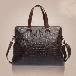 $enCountryForm.capitalKeyWord Canada - wholesale brand package fashion crocodile leather business briefcase retro oil wax leather handbag trend three-dimensional embossed handbag