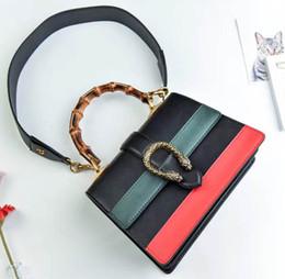 Genuine Leather Handbag Cowhide Shoulder Bag Australia - Women Tiger Head Lock Tow-tone Cowhide Handbag, Bamboo Handle Genuine Leather Strap Shoulder Bag Vintage Hardware Shopping Bag G28