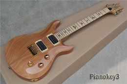 Wholesale OEM handmade custom wood color Paul reed electric guitar abalone inlay maple fingerboard