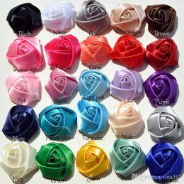 $enCountryForm.capitalKeyWord Canada - New Vintage rose buds ribbon flower Baby cloth art manual headdress flower Camellia DIY hair accessories 1591