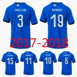 13f3395f164 2017 cheap giant jersey yellow Top quality 2018 Italian soccer jersey World  Cup national team home
