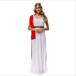 $enCountryForm.capitalKeyWord Canada - 2017 New Arrival Greek Goddess Athena white Long Dress Sexy Cosplay Halloween Costumes Uniform Temptation Stage Performance Clothing