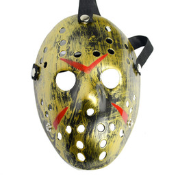 Chinese  Archaistic Jason Mask Full Face Antique Killer Mask Jason vs Friday The 13th Prop Horror Hockey Halloween Costume Cosplay Mask manufacturers
