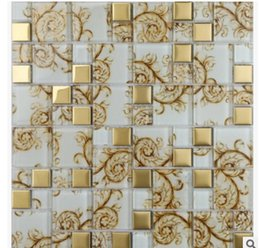 Discount Glass Tile Strips Hot Mirror Crystal Glass Mosaic TV Background  Wall Mosaic Tile D