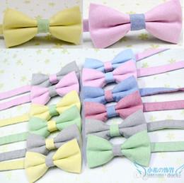 bowtie solide Cottonlinen 22 couleurs papillon Hommes présidé les cravates pour cravate jour de Noël cadeau FedEx gratuite de TNT du père