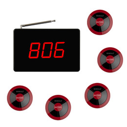 waiter button Canada - SINGCALL Calling System 1 display plus 5 one-button red bells for customers call waiter