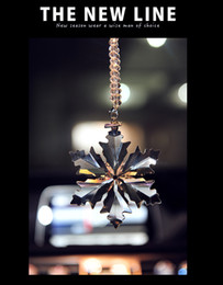clear crystal ornaments 2019 - Fashion Big Snowflake Crystal Pendant Clear Jewelry Car Interior Hanging Ornaments Decoration for Lady Girl Gifts discou