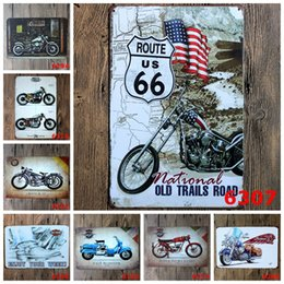 Bar Paintings Australia - Random delivery 10PCS bundled sale Tin signs movie poster Art House Cafe Bar Vintage Metal Painting wall stickers home decor 20x30 CM