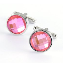 $enCountryForm.capitalKeyWord Canada - New Arrival Pink glass Cufflinks for Men Cuff Button for Mens Shirt or Suit Cuff link 990050