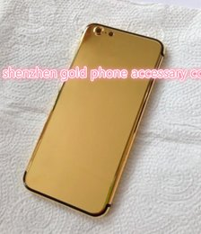Iphone Real Gold Canada - 24K 24ct real Gold Dubai Plating Back Housing Cover Skin Battery Door For iPhone 7 7+ Luxury Limited Edition 24Kt Golden for iphone7