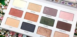 $enCountryForm.capitalKeyWord NZ - Sale Sample California Dreaming LORAC 12 Colors Makeup Eyeshadow Palette Paper Case Embossed Eye Shadow Stock DHL