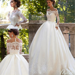 Chinese  Vestido De Noiva 2018 Vintage Lace Bridal Dress Sexy Hippie Long Sleeve Wedding Gown Ball Gown Wedding Dresses Turkey manufacturers
