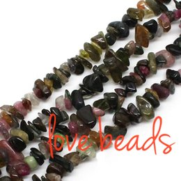 "$enCountryForm.capitalKeyWord Canada - Natural Tourmaline Chips Stone Beads 5-8mm Gravel Loose Beads Strand 33"" For Women wholesale Diy Bracelet (F00292) wholesale"