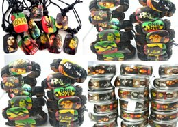 Wholesale Brand New Bob Marley Rasta Jamaica Reggae Mixed men s Jewelry Rings Necklaces Bracelets job