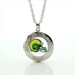 $enCountryForm.capitalKeyWord Canada - New good-looking fresh locket necklace St.Louis Rams team Newest mix 32 sport rugby football green helmet accessory for men NF084
