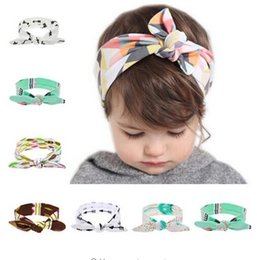 Vendas Del Tamaño De Los Cabritos Baratos-Al por mayor-2016 DIY Tamaño libre Babygirl Flower Hairband Toddler Soft Girl Niños Cruz diadema turbante Knit Knot Headwear accesorios para el cabello