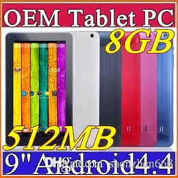 """9 Android Tablet NZ - 2016 9 inch 9"""" Dual camera Quad Core Android 4.4 Tablet PC 512MB 8GB 1.2GHz Allwinner A33 Bluetooth A-9PB"""