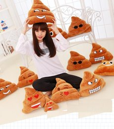 $enCountryForm.capitalKeyWord Canada - 6 styles 18cm emoji Stuffed Animals Hold pillow cute Big poop emoji Plush Toys Pillow case free shipping