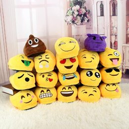 Discount warm slipper shoes - 18 Styles Emoji Slippers Cartoon Sweet Warm Plush Slipper QQ Expression Unisex Slippers Winter Household Shoes 2pcs pair