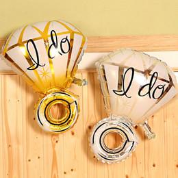 "$enCountryForm.capitalKeyWord Canada - Wholesale Wedding decoration balloon ""I DO"" diamond finger ring shape balloons ,big cartoon rings foil ballons"