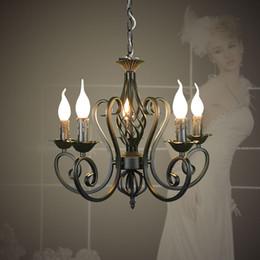 $enCountryForm.capitalKeyWord Canada - For Foyer living room bedroom dinning room use modern vintage 5 arms classical Iron matt black candle light chandelier