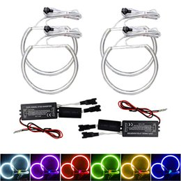 $enCountryForm.capitalKeyWord Australia - LEEWA 4pcs Car CCFL Angel Eyes Light Halo Rings Kits For BMW E46 E36 E38 E39 Headlight 6-Color #4170