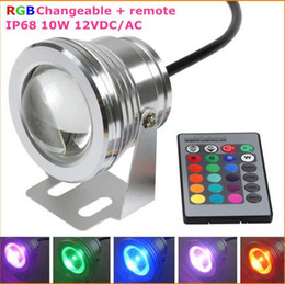 underwater floodlights UK - Best Waterproof Led Underwater Light 16 Color Changing RGB LED Pool Pond Fountain Lamp 10W 12V RGB Floodlight With 24Key IR Remote