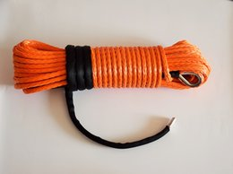 """$enCountryForm.capitalKeyWord Canada - Wholesale-Orange 3 8""""*100ft synthetic winch rope, plasma winch cable for atv accessaries,4x4 UHMWPE rope for atv winch accessary"""