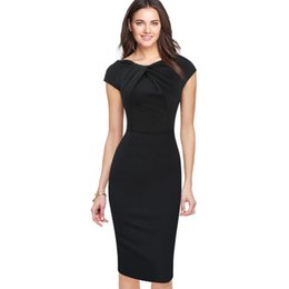 Chinese  New Fashion OL Women Ladies Office Casual Dress Clothes Knee-length Bodycon Slim Pencil Party Dress plus size Free shipping manufacturers