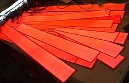 $enCountryForm.capitalKeyWord NZ - Red Color EL Strip 1*100cm EL Foil With Dc3v Battery Inverter By Free Ship In 2016