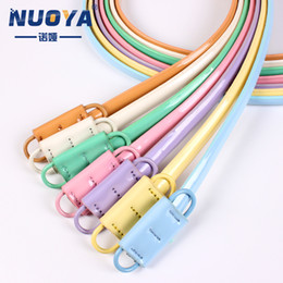 buckle manufacturers NZ - Manufacturers selling wholesale PU leather belt belt buckle without hole smooth lady candy colored women's leather belt