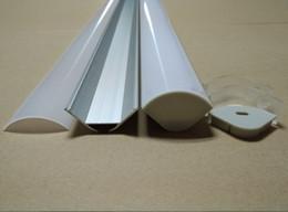 Venta al por mayor de Envío gratuito de alta calidad 140M / Lot (2M / PCS), canal de perfiles de aluminio led más ancho para tiras de leds con cubierta difusa lechosa