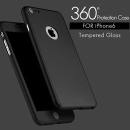 $enCountryForm.capitalKeyWord Canada - Ultra-thin Hard Hybrid PC 360 Full Body Coverage Protective Case Cover & Skin with Slim Tempered Glass Screen Protector for iPhone 6 6s Plus