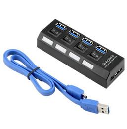 Envío gratis 10pcs nuevo 4 puertos USB 3.0 HUB con interruptor de encendido / apagado para computadora portátil de escritorio