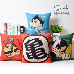 $enCountryForm.capitalKeyWord Canada - Childhood Memory Kids Best Cartoon Comics Classic Household Massager Pillow Case Decorative Pillows Warm Home Decor Vintage Gift