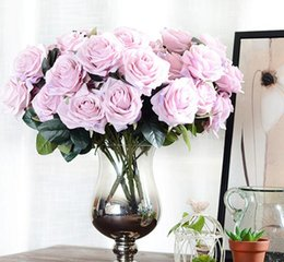 $enCountryForm.capitalKeyWord NZ - Artificial silk Bunch French Rose Floral Bouquet Fake Flower Arrange Table Daisy Wedding Home Decor Party accessory Flores G1068