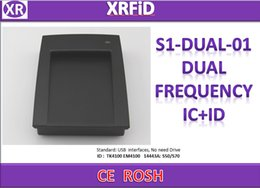 rfid id reader 2019 - S1-DUAL-01 ID+IC dual frequency RFID reader no need Drive for TK EM Chip And ISO14443A S50 S70 chip 125khz 13.56mhz RFID