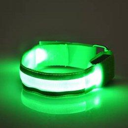 Outdoor Sports Sicherheit Nachtaktivität Party Cheer Nylon Band Transparente LED Blinkende Arm Band Handschlaufe Armband im Angebot