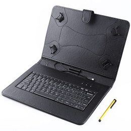 TableT pc sTands online shopping - 10 quot Smart Case Built in Wire Control Keyboard Case PU Leather Stand Smart Cover Cases for inch Tablet PC