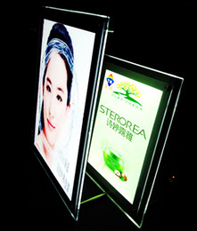 Slim Light Boxes NZ - Desk Top Free Stand A4 Acrylic Slim LED Advertising Light Box Signs