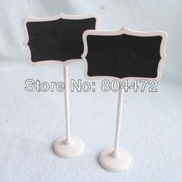 free shipping wood white framed scroll mini blackboard chalkboard stand wedding decoration table number place holder food labels