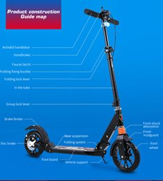 adult children kick scooter Foldable PU 2wheels bodybuilding all aluminum absorption urban campus transportation