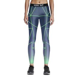 $enCountryForm.capitalKeyWord UK - Womens Green Cross Lines Print Sports Yoga Fitness Leggings Pencil Pants Digital Printing Work Out Active Elastic Slim Skinny Trousers Pants