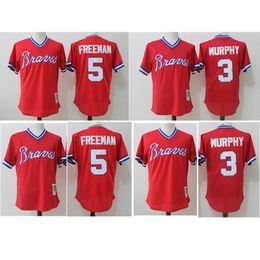 bfc548ee8 ... 2017 mens Atlanta Braves 3 Dale Murphy 5 Freddie Freeman 100% Stitched  Sports jerseys Free ...