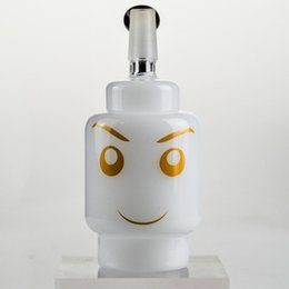 """$enCountryForm.capitalKeyWord UK - Handy Glass Bubbler Bongs 4"""" inch White Jade Smile Dabber Oil Rig Black Neck Thick Glass Rigs 2 Colors Water Pipes Glass Hookahs"""