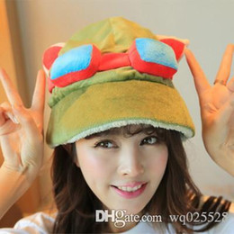 Teemo Toys NZ - Hot game League of Legends cosplay cap Hat Teemo hat Plush+ Cotton LOL plush toys Hats