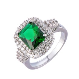 ring ornament UK - women's zircon ring foreign trade originality emerald retro ornaments one on behalf rings