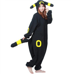 China Pocket Monster Character Umbreon Onesies Cartoon Japanese anime party Cosplay Costume Fleece cute Pikachu Sleepwear Pajamas Umbreon jumpsuit cheap japanese party suppliers