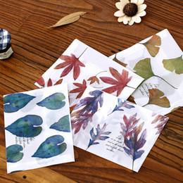 $enCountryForm.capitalKeyWord Canada - Wholesale-8 pcs lot Fallen Leaf envelope postcards greeting card cover parchment paper envelopes stationery school supplies