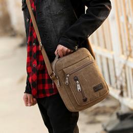 Free Shipping Men Shoulder Bags Canada - Free Shipping New Men Canvas Bag Multifunction Crossbody Bag Shoulder Purse Bags Man Handbag Sling Bag MCB022